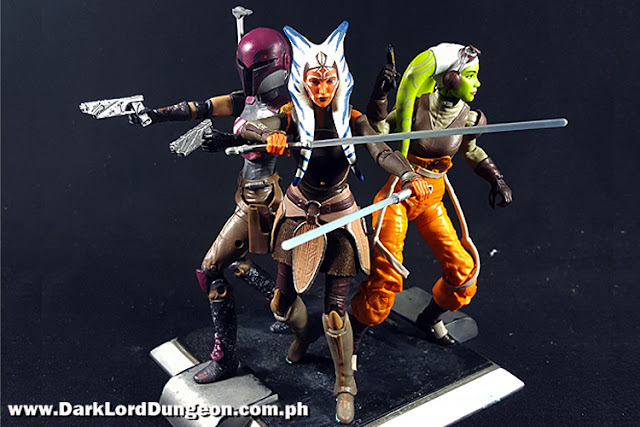 Star Wars Black Series Sabine Wren, Ahsoka Tano and Hera Syndulla