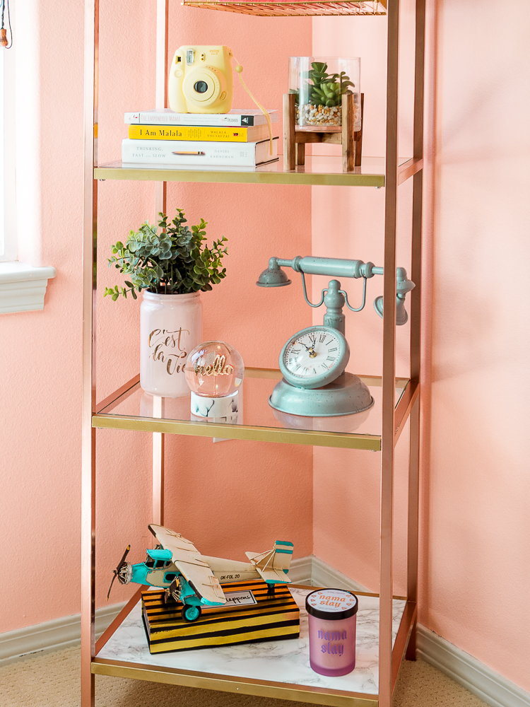 Home Office Design Decorating Ideas: DIY Bookshelf & Decorating