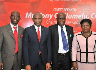 "TONY  ELUMELU ""IGNITES  ENTREPRENEUSHIP FIRE"" IN LASU STUDENTS"