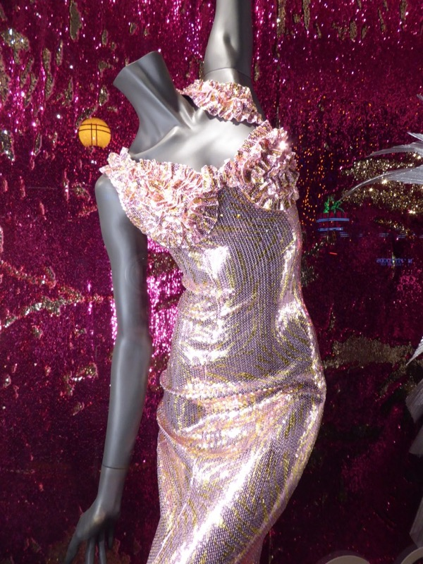 RuPauls Drag Race 9 sequin judging gown