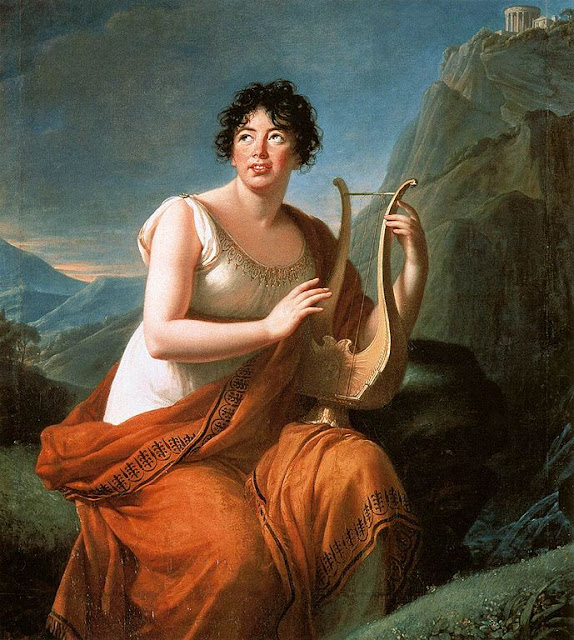 Portrait of Madame de Staël as Corinna by Louise Élisabeth Vigée Le Brun
