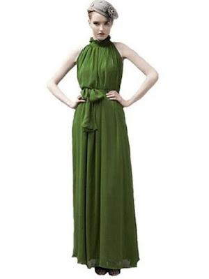 Eyekepper Women's Chiffon Ruffle Neck Sleeveless BallGown Long Maxi Dress