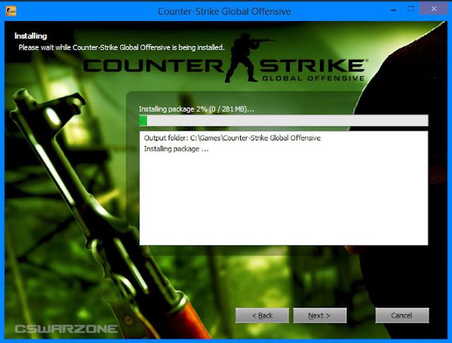 ติดตั้งและดาวน์โหลดเกมส์ Counter Strike Global Offensive