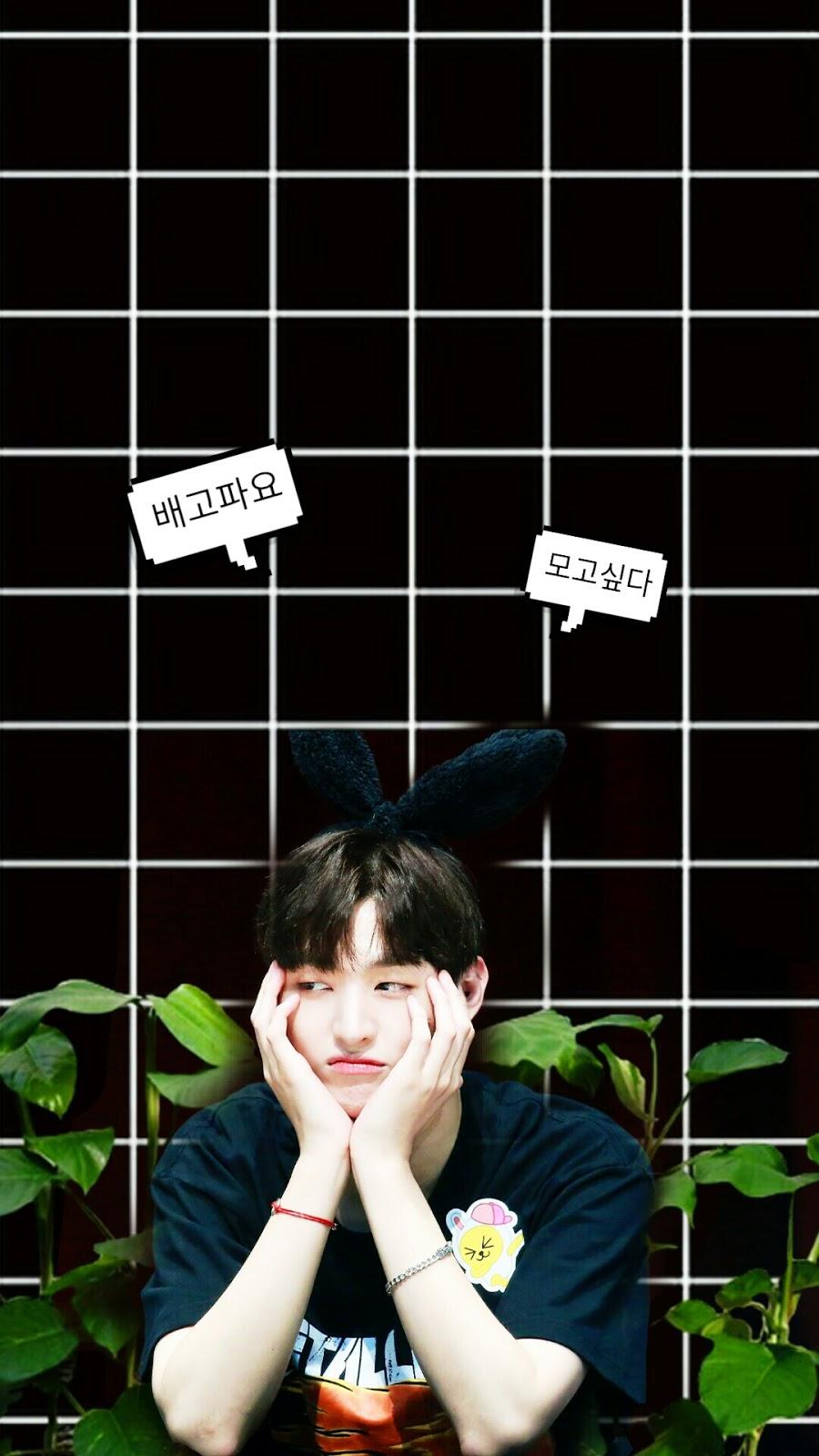 Wanna One Yoon Jisung Green Wallpaper Lockscreen 1 Dandeliyong