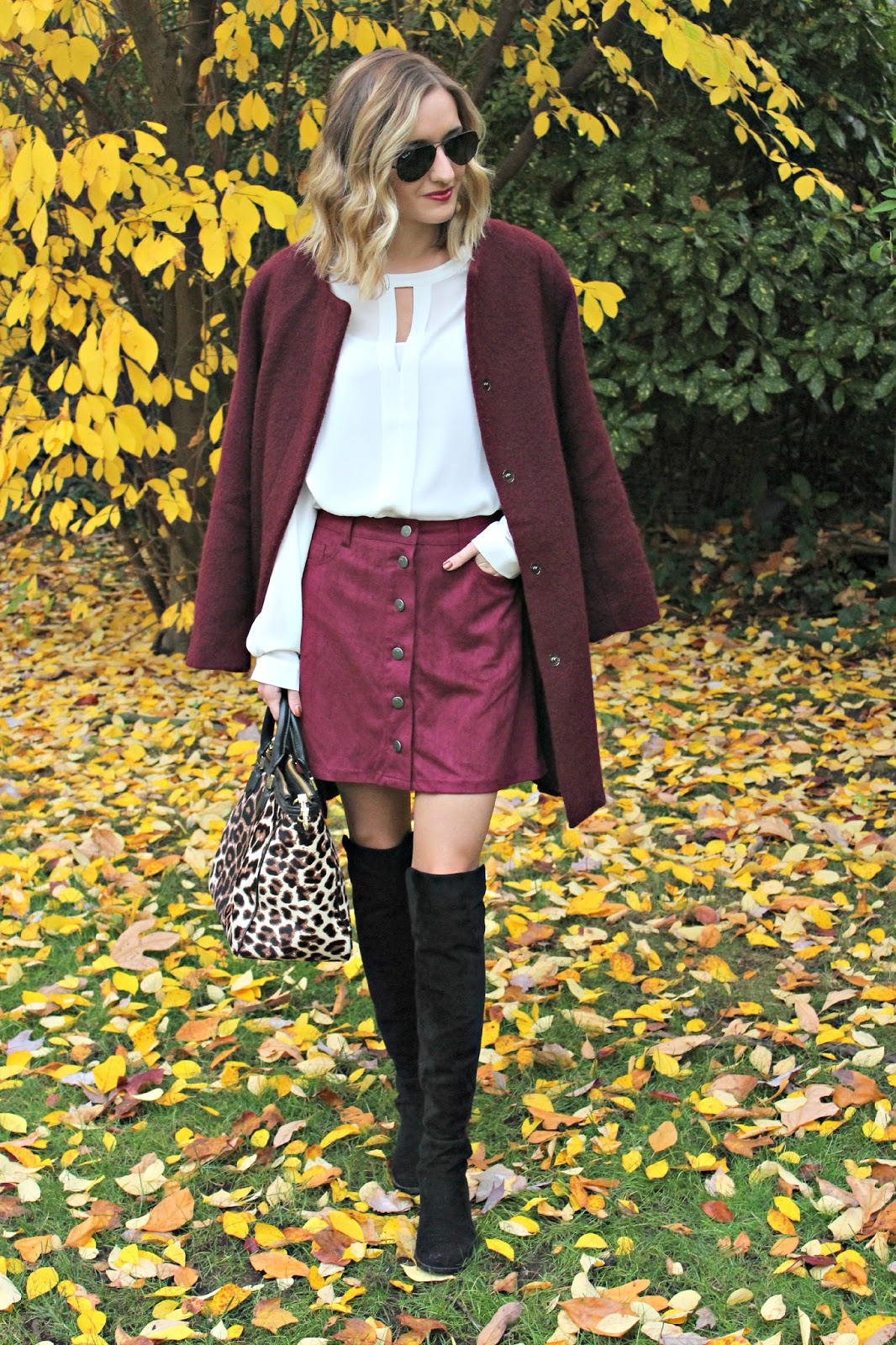 burgundy fall outfit