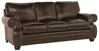 brown leather sofa from Bernhardt