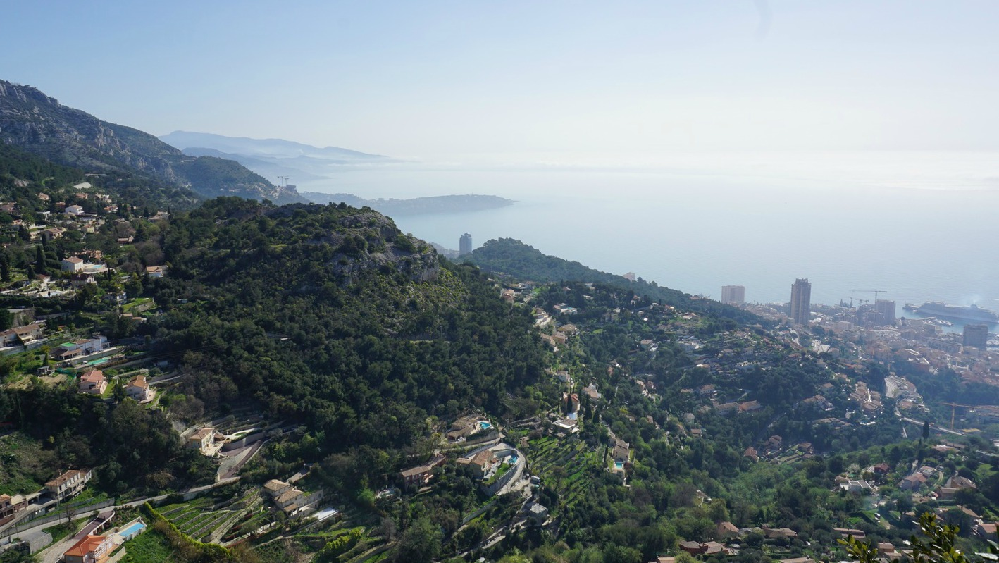 View from La Turbie to Roquebrune
