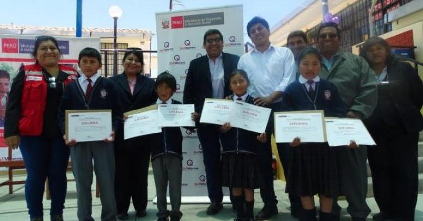 QALI WARMA: Institución educativa de Puquina - Moquegua, recibió premio por proyectos innovadores en el servicio alimentario escolar - www.qaliwarma.gob.pe