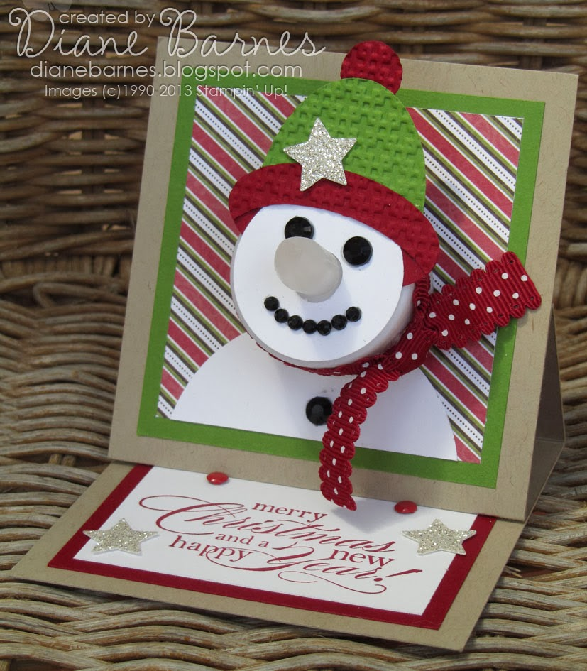 Colour Me Happy: Snowman Tealight Easel Cards