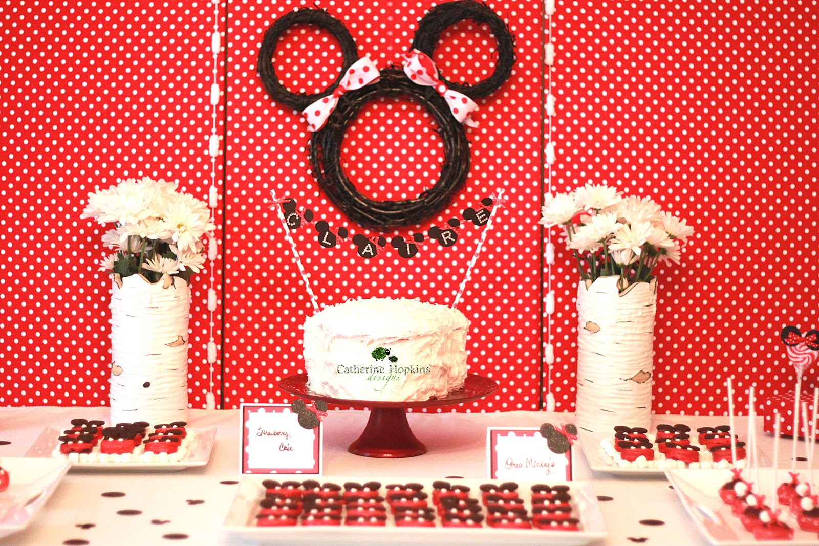 I Had The Opportunity To Style And Plan A Minnie Mouse Inspired Birthday Party For Two Year Old Adorable Little Girl This Was Rushed Event