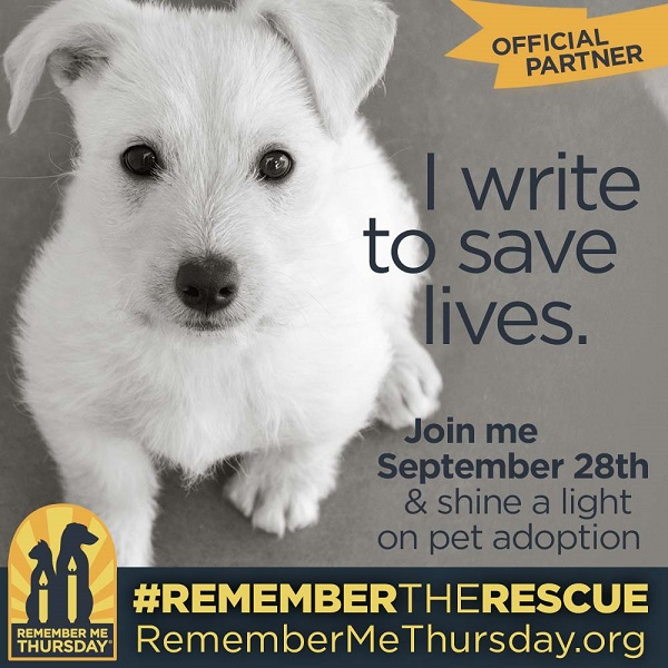 I write to save lives on Remember The Rescue on Remember Me Thursday 2017