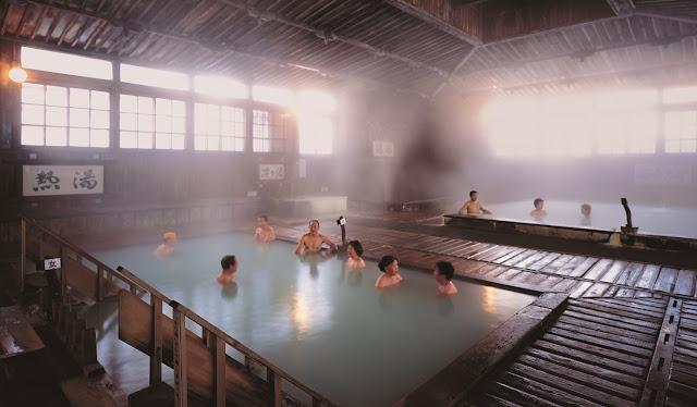 bath at Sukayu Onsen, japan