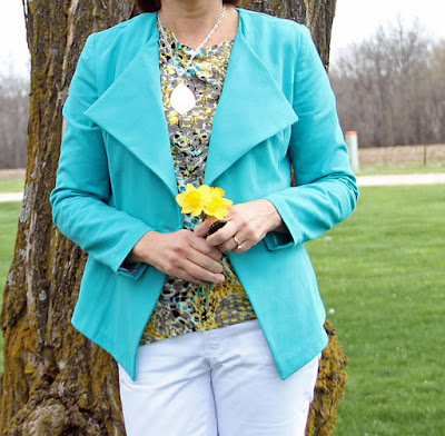 Style Maker Fabrics' Spring Canvas Blog Tour - Jade Twill for a jacket Burda 6661 and Rayon Challis in McCall's 7093