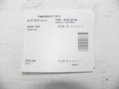 Ticket de entrada dos Castelos de Algodão
