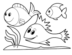 cute fish animal coloring pages