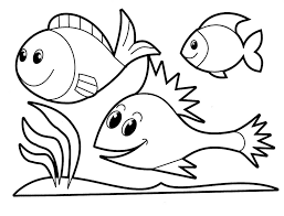 Cute River Fish - Coloring Pages Animals