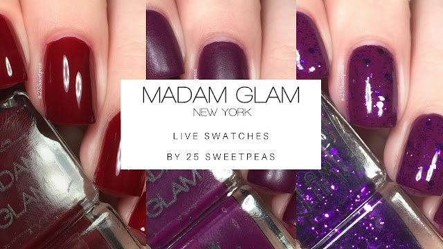 Madam Glam Live Swatches