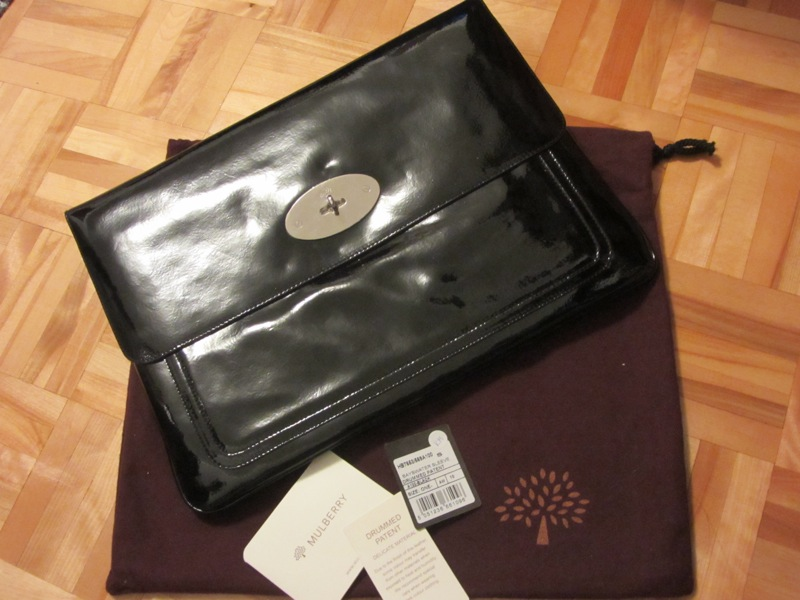 71a0f6b68d93 ... cheapest mulberry bayswater black patent leather laptop case a0c5e a759c
