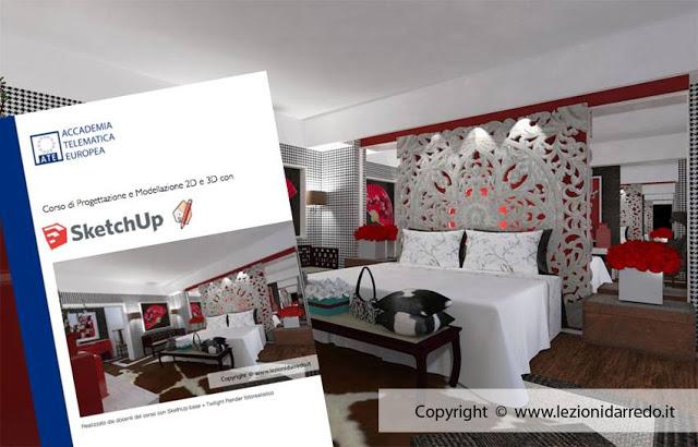 Gravità zero : corsi di interior design con modellazione 3d in sketchup