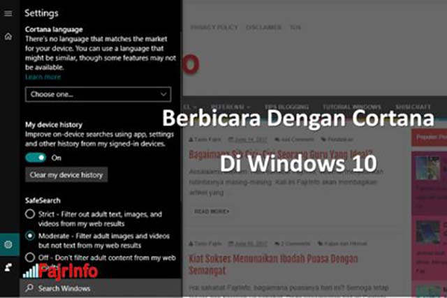 Cara Mengaktifkan dan Berbicara dengan Cortana di Windows 10