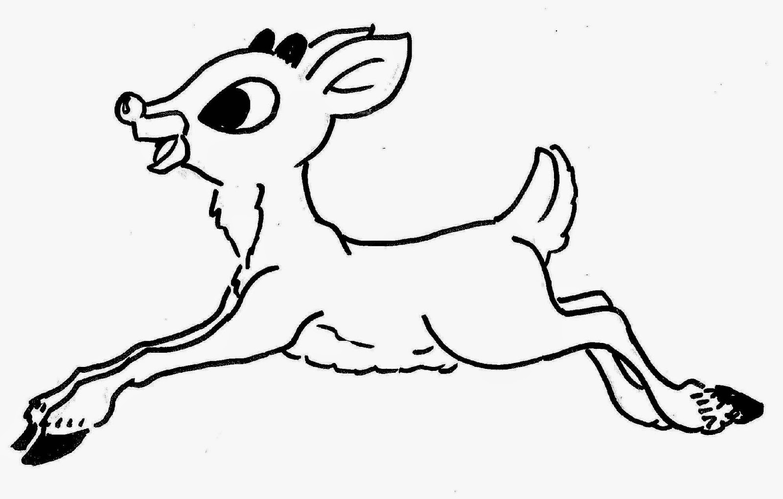 Rudolph Printable Coloring Pages - Eskayalitim