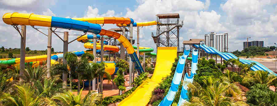 Johor Austin Heights Fun Village Water Park scene