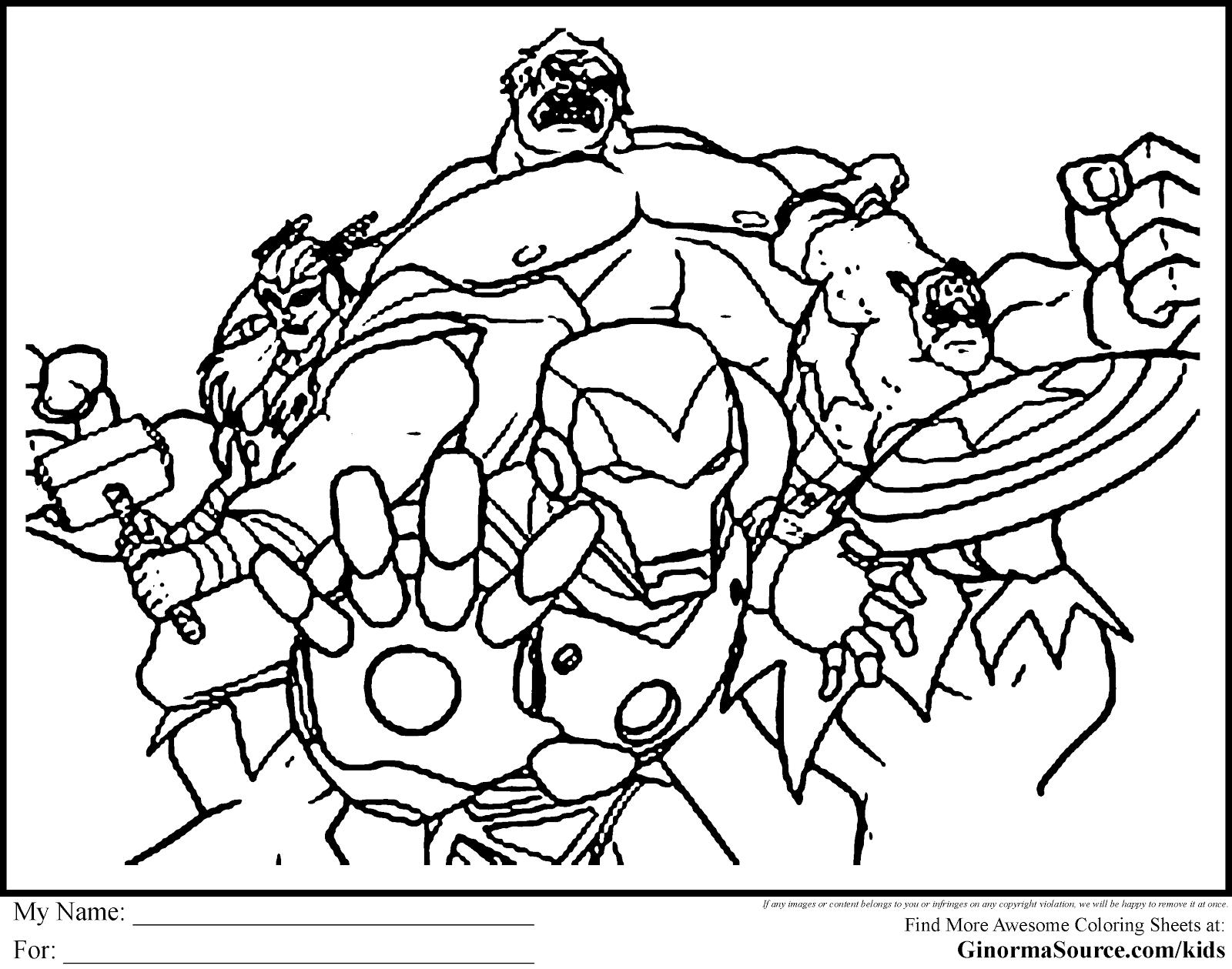 Kleurplaat 2 Poezen Avenger Coloring Pages