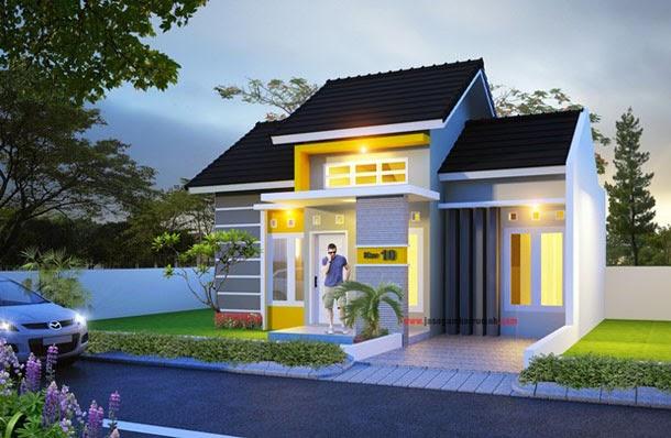 Ini merupakan contoh rumah minimalis perkotaan.
