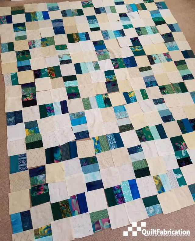 charm squares and scrap block units