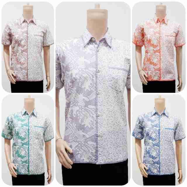 Batik Motif Bunga Pria: Model Baju Batik Pria Dua Motif