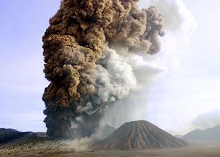 Bromo Volcano Eruption