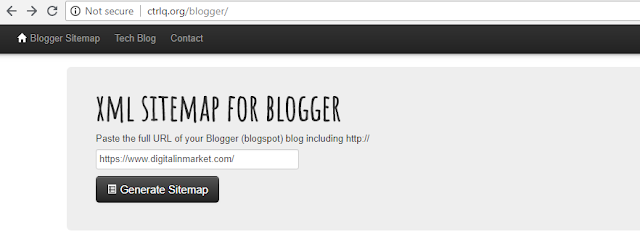 What is sitemap in blogger