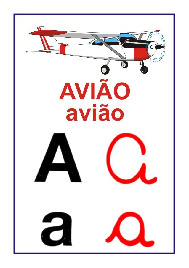 Alfabeto Ilustrado Cartazes De Parede Para Sala De Aula