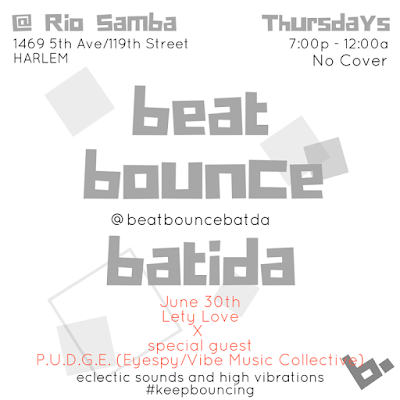 beat bounce batida afterwork Thursdays Harlem