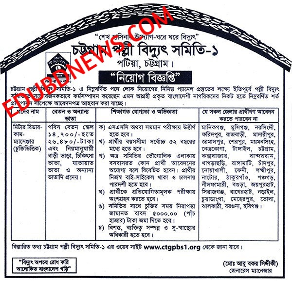 Bangladesh Palli Bidyut Samity Jobs (PBS BD JOBS) Latest Circular 2018