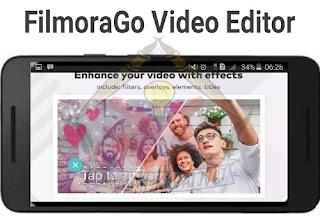 Tampilan Filmora Video Editor