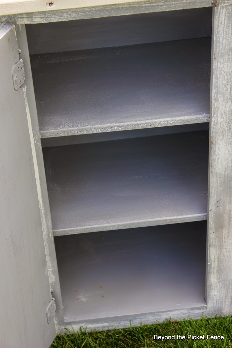 Old Kitchen Cupboard Shelf Screwed In