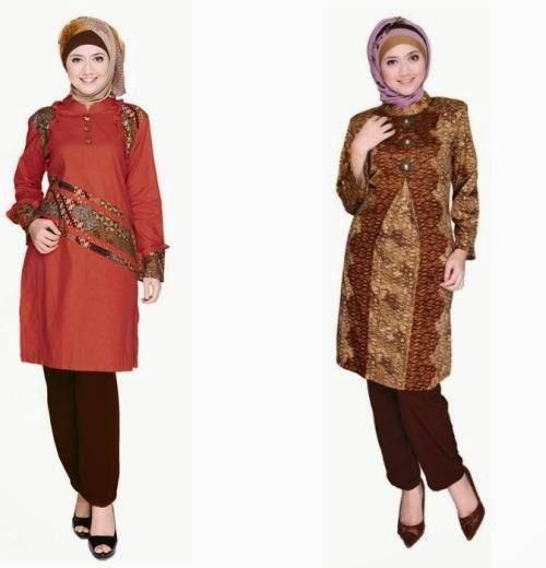 Model Baju Batik Modern Untuk Kerja Wanita: Model Baju Batik Muslim Modern Untuk Yang Bekerja Di Kantoran