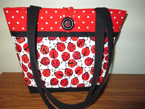 Quilted Ladybug Purse