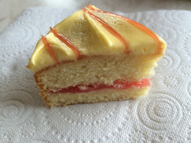 Sponge Cake With Jam And Pastry In The Middle