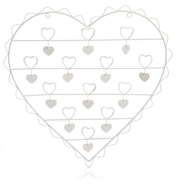 Heart shaped memo board