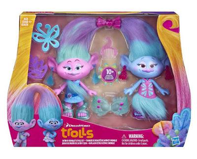 JUGUETES - DreamWorks TROLLS Saten y Chanelle : Satin y Seda | Gemelas - Figuras PELICULA 2016 | Hasbro B6563 | A partir de 4 años Comprar en Amazon España