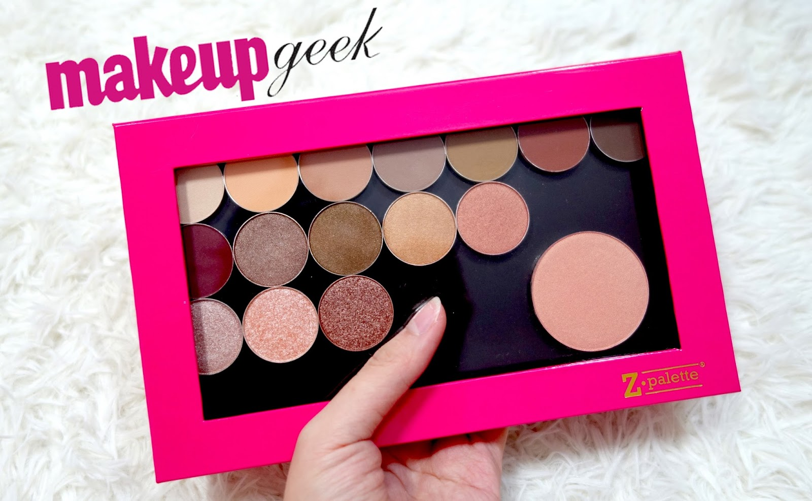 Makeup Geek Eyeshadow and Blush and Z Palette