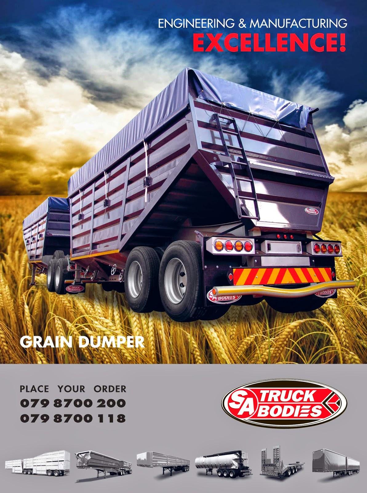 Route Management Pty Ltd Sa Truck Bodies Grain Dumper