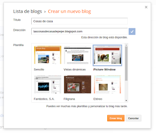 Crear un blog en Blogger