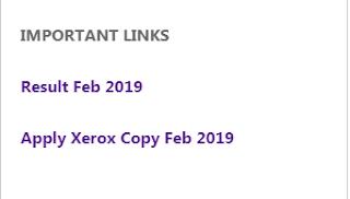 Result feb 2019