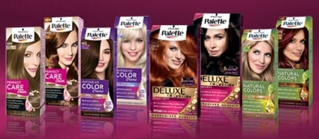 Palette saç renk kodları