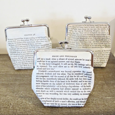 literary book purses clutch gift bookish