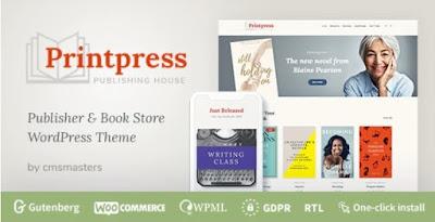 Free Download Printpress – WooCommerce Book Store & Publishing House WordPress Theme