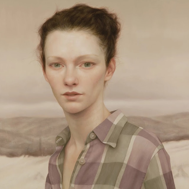 Lu Cong arte inspirador, ojos miradas expresivas, pinturas, retrato mujer joven, cuadros, imagenes